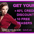 GET YOUR 40% CREDIT DISCOUNT!